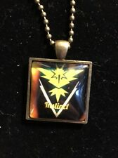 Pokémon Go Team Instinct Bronze Glass Dome Pendant Necklace Accessory