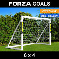 FORZA Football Goal | 6ft x 4ft Goal | PVC Garden Goal For Kids | Tough Goal Net