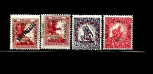 HUNGARY Sc 11NB1-4 LH issue of 1919 - SZEGED SET - SIGNED