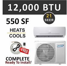 12000 BTU Ductless AC Mini Split Air Conditioner and Heat Pump 20.5 SEER 1 Ton