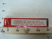 STICKER,DECAL OLD CAR STICKERS NOS TEXT GRANADA RED FORD ?