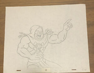 He-Man Masters of the Universe Original Production Pencil Drawing Skeletor
