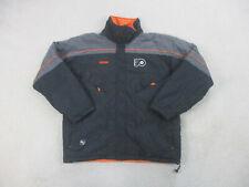 Philadelphia Flyers Jacket Adult Large Black Orange Nhl Hockey Coat Mens 90s