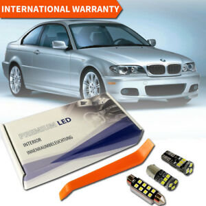 BMW 3er E46 Sedan Coupe LED Interior Set Premium SMD Bulbs White Error Free