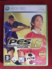 Xbox 360 juego PES pro evolution soccer 6 + instrucciones