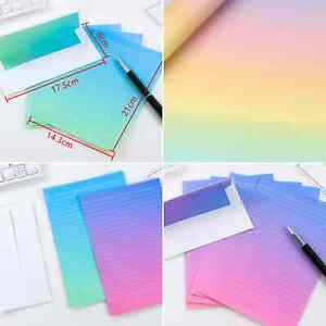paper and envelope sets childrens letter writing set girls rainbow ombre boys UK