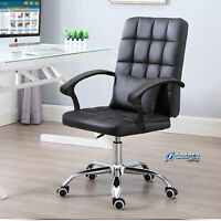 Luxury Executive Home Office Chair Adjustable Swivel Lift Computer Desk Chair UK