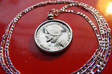 "Classic Proof Conquistador Panama Pendant on a 30"" 925 Sterling Silver Chain"