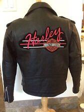 Women's Zippered  Z1R Jacket Size 12 Harley-Davidson patch professionally sewn.