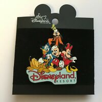 DL Fab 5 Disneyland Resort Mickey Minnie Pluto Goofy Donald Disney Pin 6611