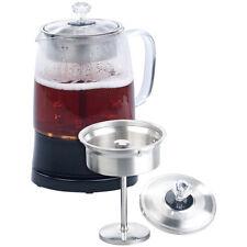 2in1 Glas Teebereiter Wasserkocher Edelstahl Sieb 800 Watt 1