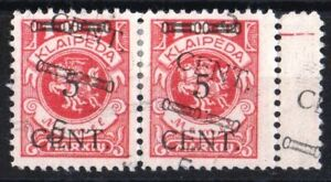 Lithuania stamps.Memel stamps.Mi180.Canseled.Error.