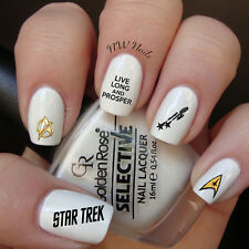 Star Trek Live Long And Prosper Nail Art Waterslide Decals *Salon Quality