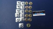 11 Snowmobile Woody's Gold Digger T nuts and steel square backers