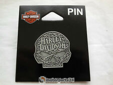 HARLEY DAVIDSON SKULL ORNATE 3d CALAVERA PIN BROCHE Tapacubos p146205