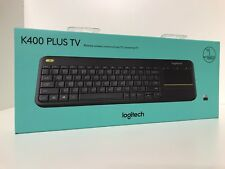 Logitech K400 Plus Wireless Touchpad Unifying Keyboard For PC Smart TV - Black