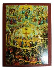 Last Judgment Greek Byzantine Orthodox Icon 20x26cm