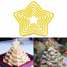 3D Star Decoration Cutter Cookie Biscuit Set for Gift Christmas Tree Pack of 6