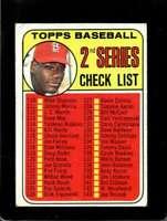 1969 TOPPS #107 BOB GIBSON VG+ CARDINALS CHECKLIST 110-218 ERR  *X2386