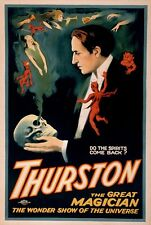 THURSTON, Vintage Magician Advertising Reproduction Rolled CANVAS PRINT 24x36 in