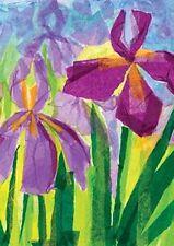 """Iris Duet Garden Size (13"""" x 18"""" Approx) Flag Tol 117060"""