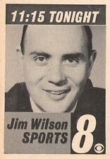 1963 WISH tv ad ~ Sportscaster JIM WILSON on WISH in Indianapolis,Indiana