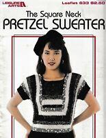 The Square Neck Pretzel Sweater | Leisure Arts 633