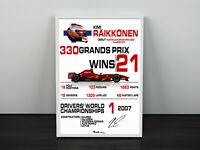 Finnish racing driver G1295 Kimi Raikkonen UNSIGNED photo