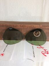 Vintage Ray Ban Bausch And Lomb Green RB3 58mm replacement Lenses NOS
