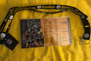 NWT Pittsburgh Steelers lanyard Free Magnetic 2021 Schedule