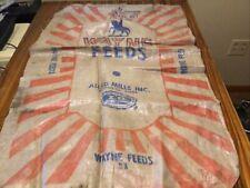 Wayne Feed sack burlap bag vintage