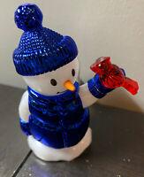 Bath & Body Works SNOWMAN With red bird NIGHTLIGHT WALLFLOWER Plug