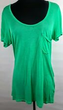 291 Venice Sz 1 Tshirt Top Slinky Fit Front Pocket Semi Sheer