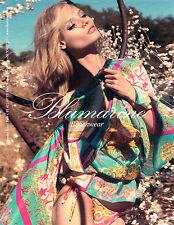 PUBLICITE ADVERTISING 094  2013  BLUMARINE  tenue de  plage paréo