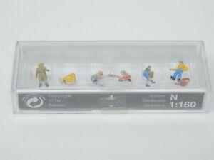 N 1/160 Scale Preiser 79046 Gardeners - 6 Figure Pack - Sealed