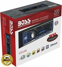 Boss Single Din USB SD AUX Radio Car Stereo Receiver Audio Bluetooth Enabled