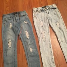 Lot (2) Girls clothes size 10 Jeans Jeggings Lucky Brand Skinny Denim