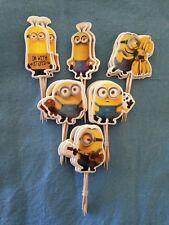 Cupcake Cake  Toppers Minions  24pcs