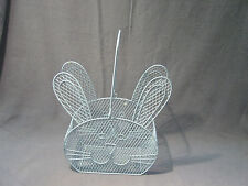 Easter Basket Blue Wire Mesh