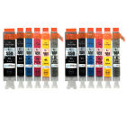 12 Cartucce D'inchiostro per Canon Pixma iP8750 MG6350 MG7150 MG7550 MX925
