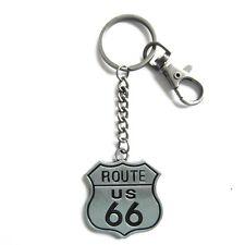 Schlüsselanhänger Schlüsselring mit Karabiner Route 66