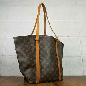 100% Authentic Louis Vuitton Monogram Sac shopping M51108 Used 4-20