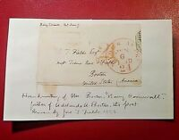 """Signature Barry Cornwall """"Bryan Waller Proctor"""" 1778-1874 English poet autograph"""