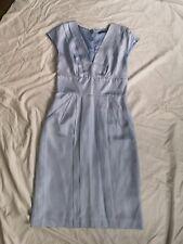 Trinny & Susannah Ice Blue SILK Occasion Pencil Dress 8 Worn Once Beautiful