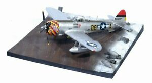"""Dragon Wings P-47D-30 Thunderbolt """"Five by Five"""" 362nd FG + Airfield Base"""