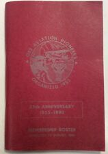 OX5 Aviation Pioneers 25th Aniversary Membership Roster Book Corrected 1980