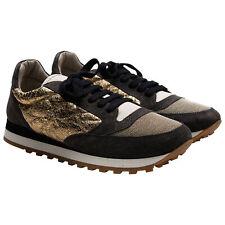 NIB $1395 Brunello Cucinelli Women's 100% Leather Shoes EU 37 US 7