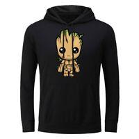 Men's Hoodie Sweatshirts Baby Groot Print Sweater Coat Hooded Pullover Unisex