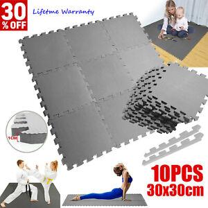 10X Extra Thick EVA Soft Foam Mat Gym Flooring Interlocking Yoga Tiles Kids Play