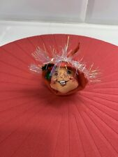 "1996 Annalee 3"" Red Elf Head Ornament"